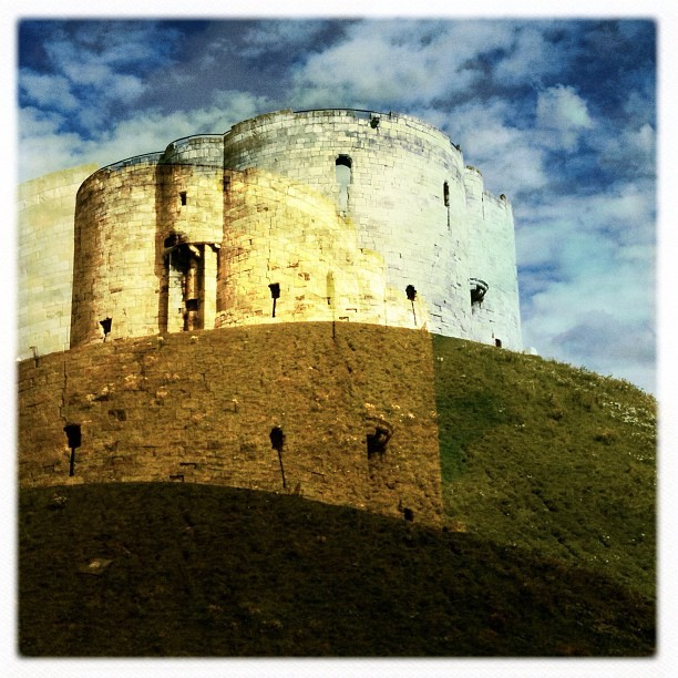 Cliffords Tower double exposure