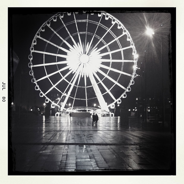 The Wheel of Liverpool at Night